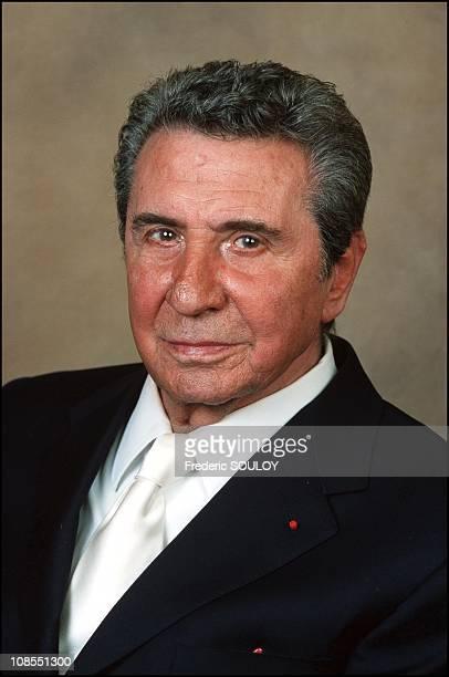 Closeup of Gilbert Becaud in Paris France in April 2001
