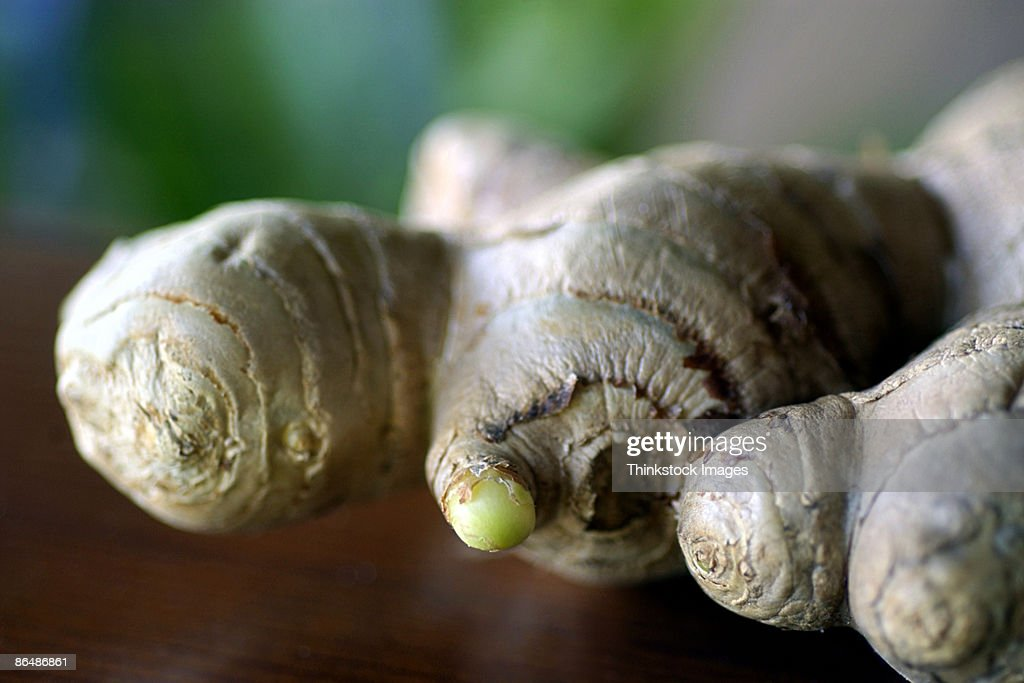 Close-up of ginger root : Stock Photo