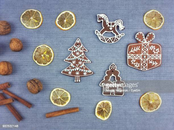 Close-Up Of Gingerbread Cookie On Table