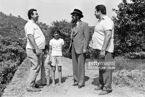 Closeup Of Giovanni Trovato Provider Of Lemon En Sicile à Acireale 18 août 1975 Dans une citronneraie le pourvoyeur de citrons Giovanni TROVATO barbu...