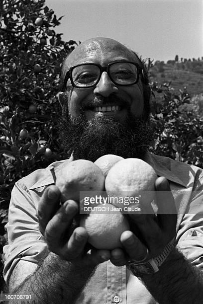 Closeup Of Giovanni Trovato Provider Of Lemon En Sicile à Acireale 18 août 1975 Dans une citronneraie portrait du pourvoyeur de citrons Giovanni...