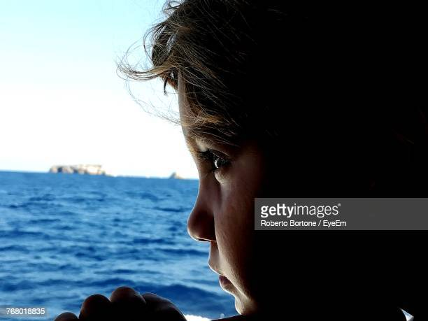 Close-Up Of Girl Against Sea