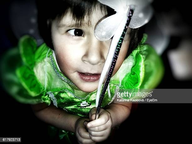 Close-Up Of Girl In Fairy Costume
