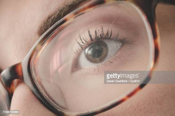 Close-Up Of Girl Wearing Eyeglasses