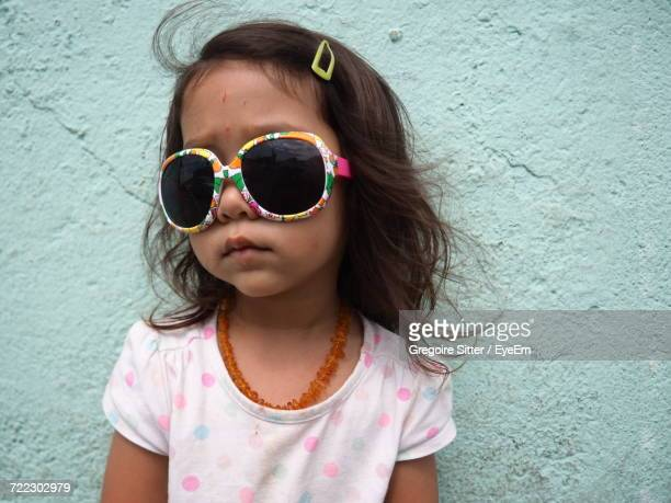 Close-Up Of Girl Wearing Sunglasses