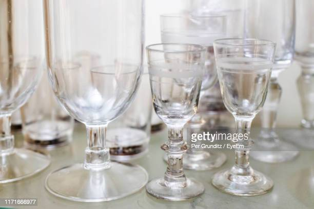 close-up of glasses on table - per grunditz stock pictures, royalty-free photos & images