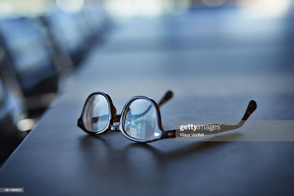 Close-up of glasses on table : Stock-Foto