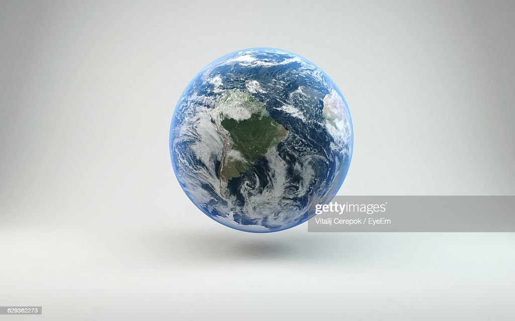 Close-Up Of Globe Against White Background : Stock Photo