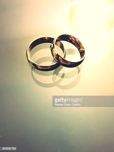 Close-Up Of Gold Wedding Rings