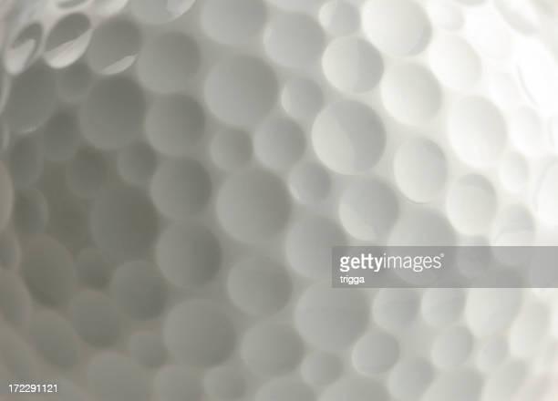 Closeup of golf ball
