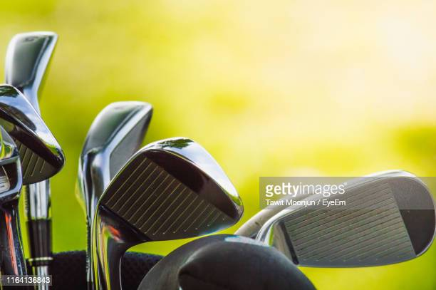 close-up of golf clubs - golf club stock pictures, royalty-free photos & images