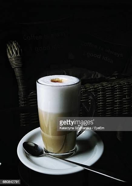 close-up of gourmet coffee drink on table - coffee drink stock pictures, royalty-free photos & images