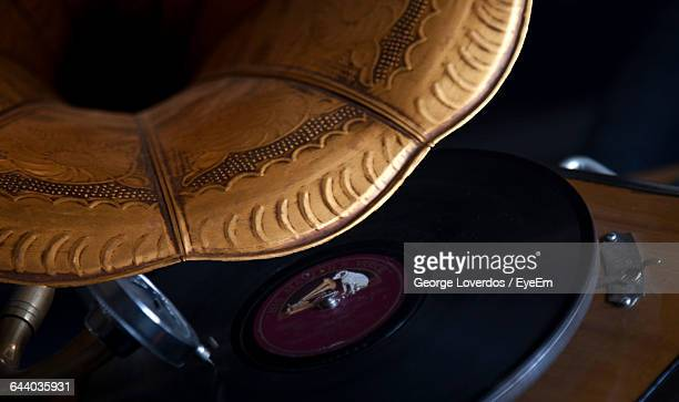 Close-Up Of Gramophone