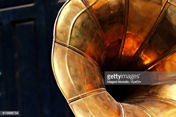 close-up of gramophone - gramophone stock pictures, royalty-free photos & images