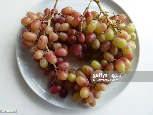 Close-Up Of Grapes In Plate