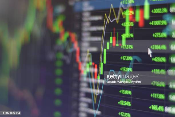 close-up of graph - trading stock pictures, royalty-free photos & images