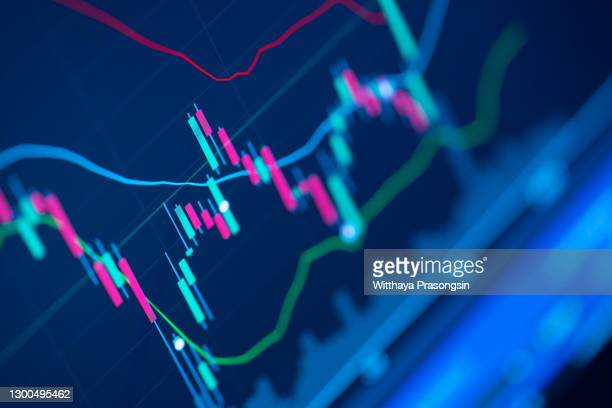 close-up of graph - stock price stock pictures, royalty-free photos & images