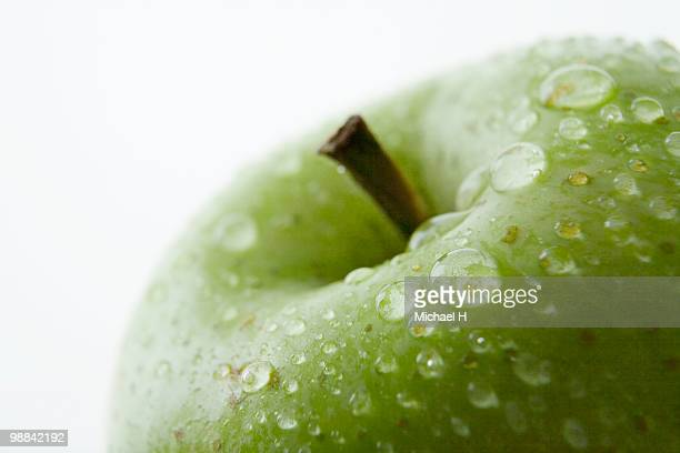 close-up of green apple - newhealth stock photos and pictures