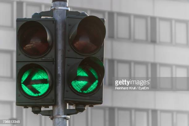 Close-Up Of Green Signal Against Building
