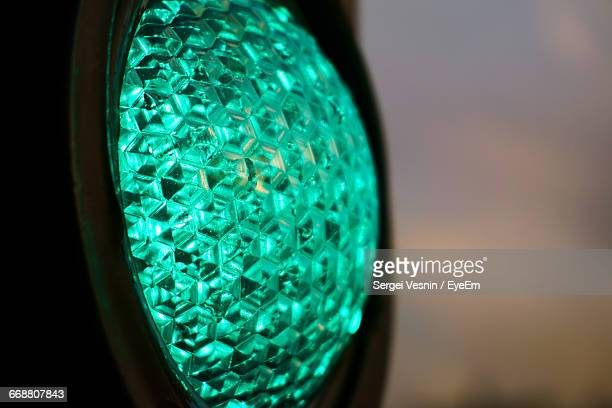 Close-Up Of Green Traffic Light