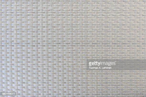 Closeup of grey plastic weave