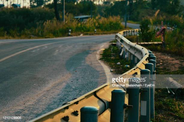 close-up of guard rail - chatchai thalaikham stock pictures, royalty-free photos & images