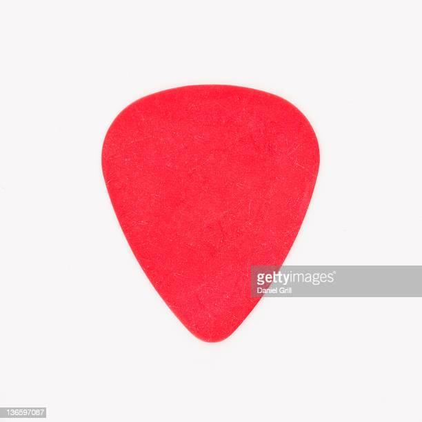 Close-up of guitar pick, studio shot