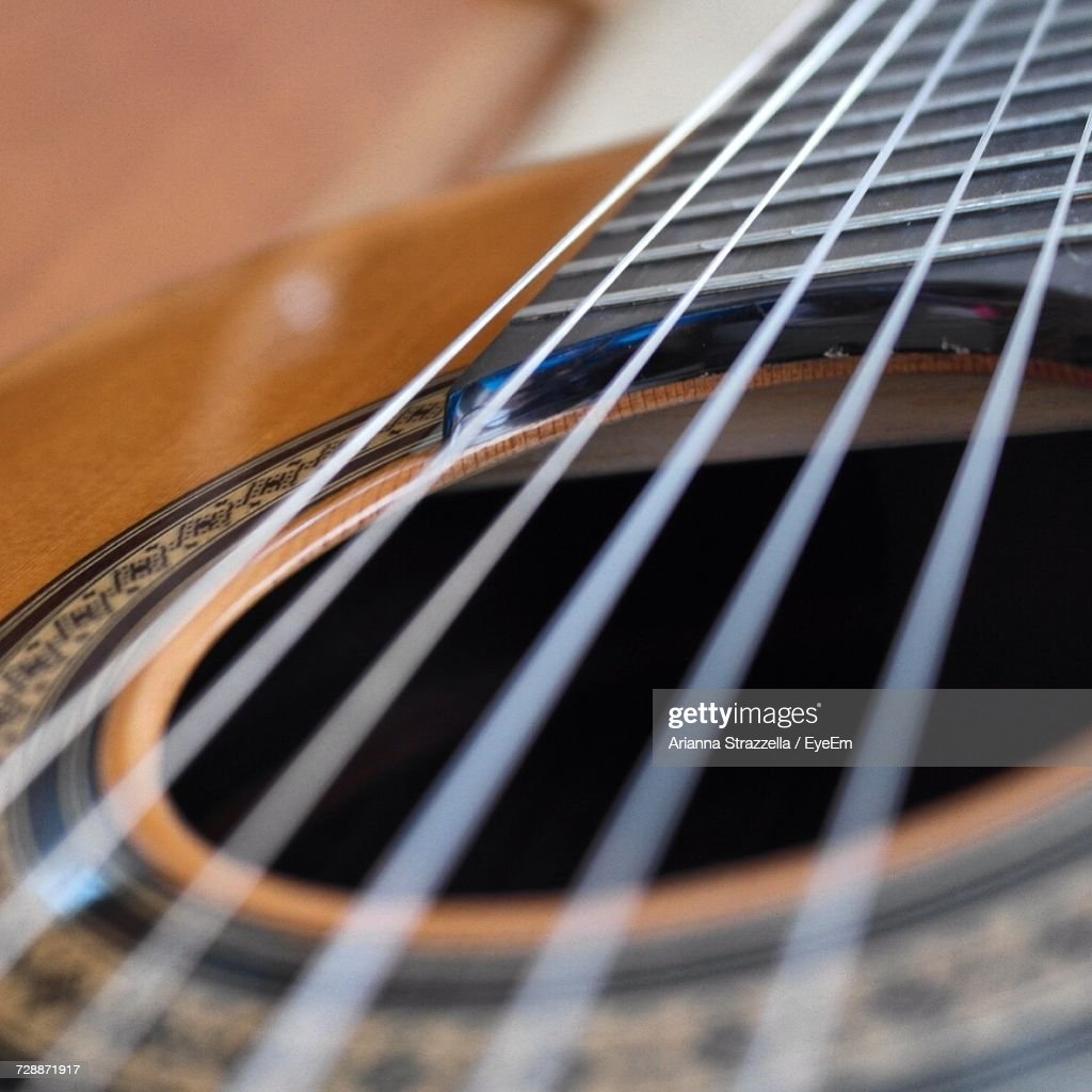 Close-Up Of Guitar : Stock Photo
