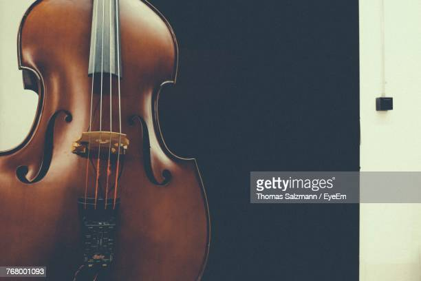 close-up of guitar - double bass stock photos and pictures
