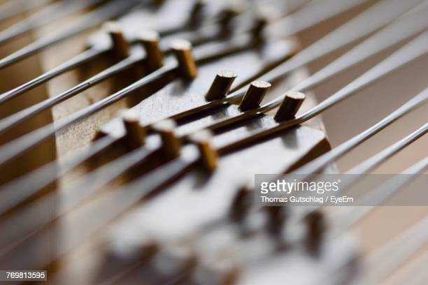 close-up of guitar - musical instrument string stock pictures, royalty-free photos & images