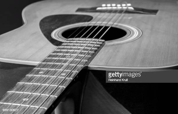 close-up of guitar - chitarra classica foto e immagini stock