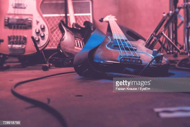 close-up of guitars - rehearsal stock pictures, royalty-free photos & images