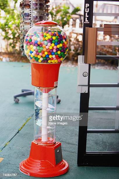 close-up of gumball machine - gumball machine stock pictures, royalty-free photos & images