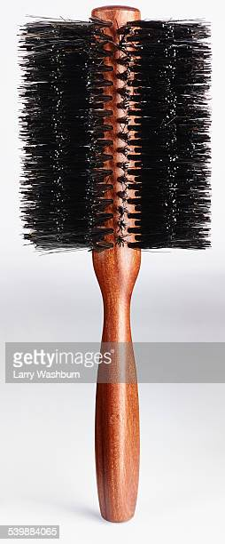 Close-up of hairbrush against white background