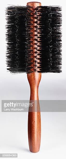 Close-up of hairbrush against white background