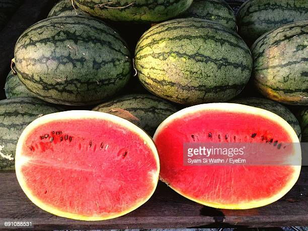 Close-Up Of Half Cutted Watermelon