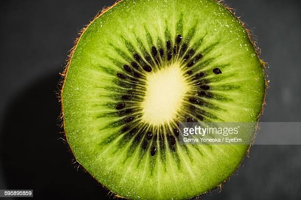 Close-Up Of Halved Kiwi