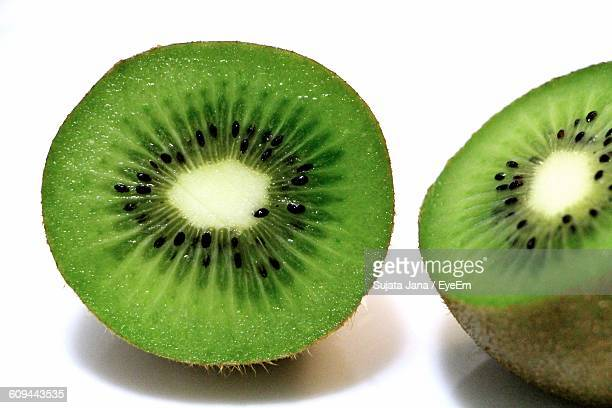 Close-Up Of Halved Of Kiwi In Plate