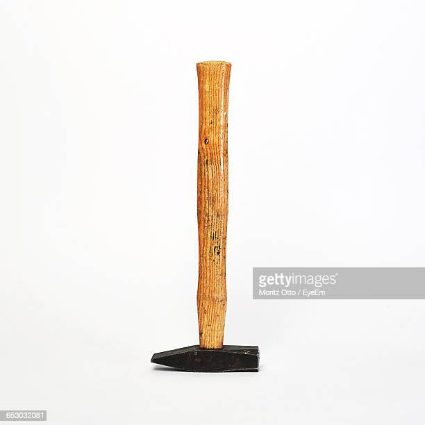 close-up of hammer on white background - hammer stock pictures, royalty-free photos & images