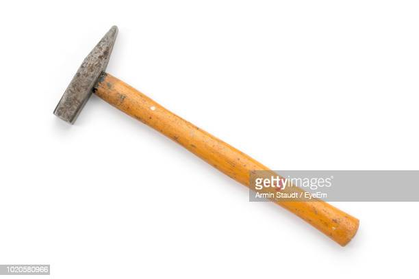 close-up of hammer over white background - hammer stock pictures, royalty-free photos & images
