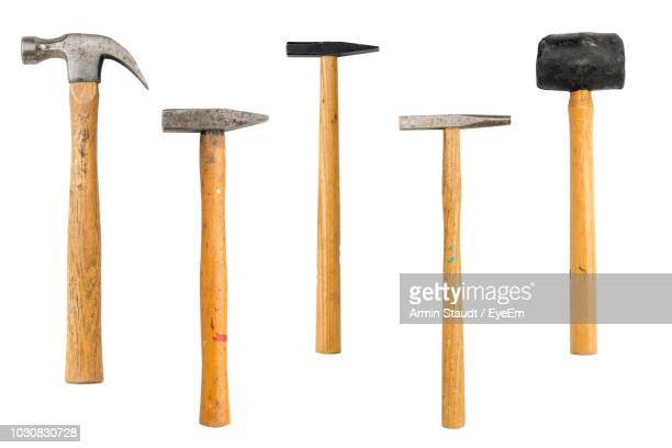 close-up of hammers over white background - hammer stock pictures, royalty-free photos & images