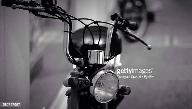 close-up of handle of moped - moped stock photos and pictures