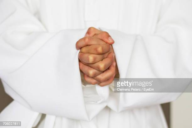 Close-Up Of Hands In Prayer