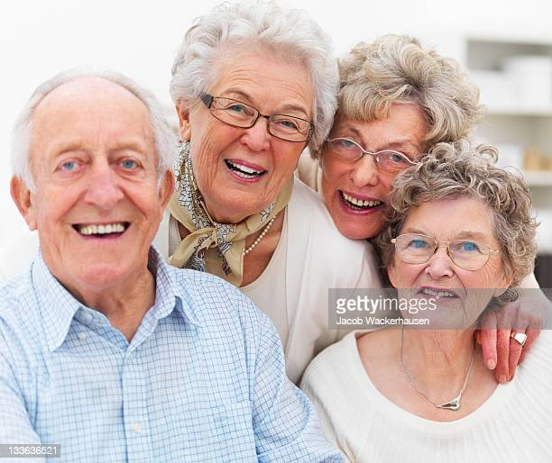 Close-up of happy senior adults