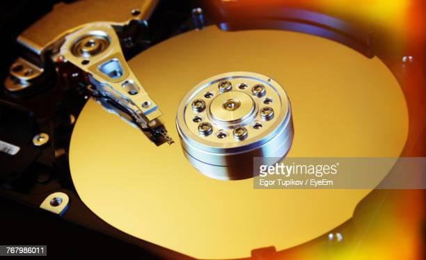 Close-Up Of Hard Disk