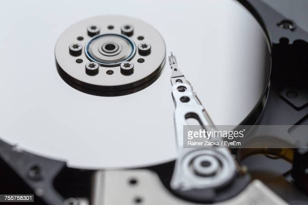 Close-Up Of Hard Drive