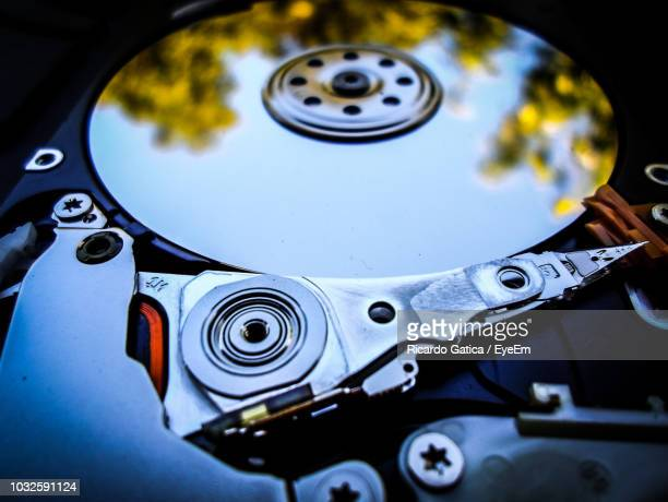 Close-Up Of Hard Drive With Reflection