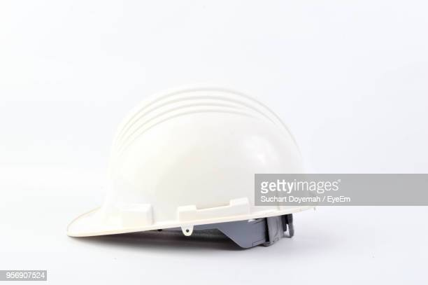 Close-Up Of Hardhat Over White Background