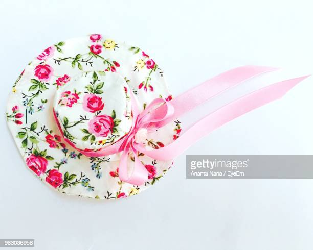 Close-Up Of Hat Over White Background