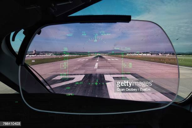 Close-Up Of Head-Up Display In Airplane